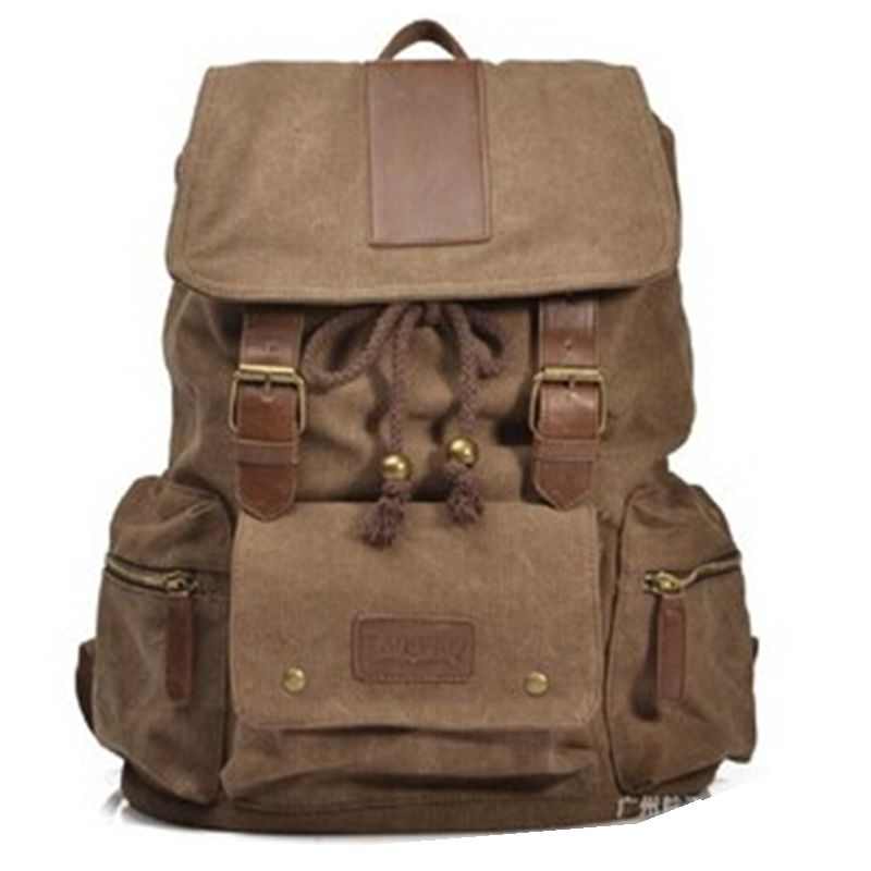 New Vintage Backpacks Fashion Women Shoulder Bag Canvas Men Backpack Multi-Color Leisure Travel School Bags Drawstring Bag 2016 new sports men and women backpacks fashion men s backpack unsix men shoulder bag brand design ladies school backpack