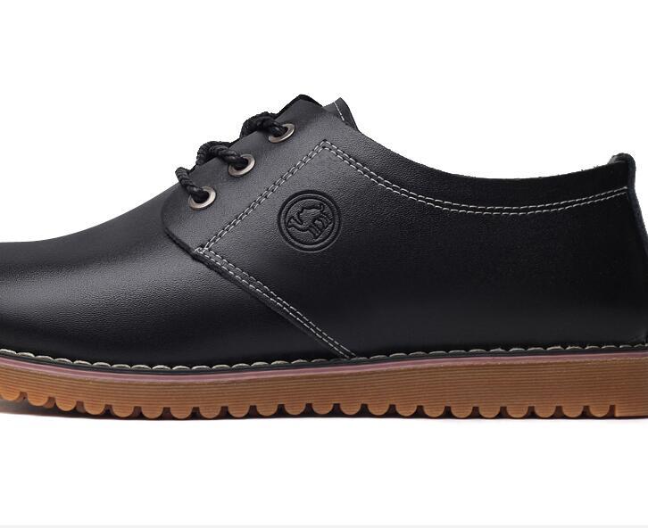 для monstceler мужчин в повседневное ПУ кожаные ботинки плюс размеры 45, 46, 47 мягкая подошва британский стиль для мужчин; универсальные туфли-оксфорды m33287