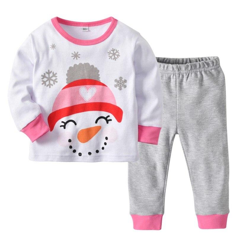 Praktisch Baby Kinder Mädchen Pyjamas Kleidung Set Mädchen Cartoon Nachtwäsche Anzug Set Kidslong-ärmeln + Hose 2-stück Baby Kleidung Online Rabatt