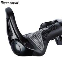 WEST BIKING Cycling Grips Bicycle Handlebar Grip Lockable Anti-skid Bike Grips 2.2cm Diameter Standard Mountain Bicycle Parts