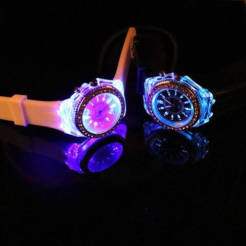 LED Light Flash Luminous Watches Women Men Boys Girls Silicone Wrist Watch Fashion Rhinestone Clock Kids Children Relogio Saati Lahore