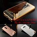 Чехол Для LG G5 Роскошные Золотое Покрытие Металлический Каркас Акриловые Зеркало задняя крышка для LG G2 3 4 5 V10 K10 Для LG K5 K7 K10/D690/740/LS770