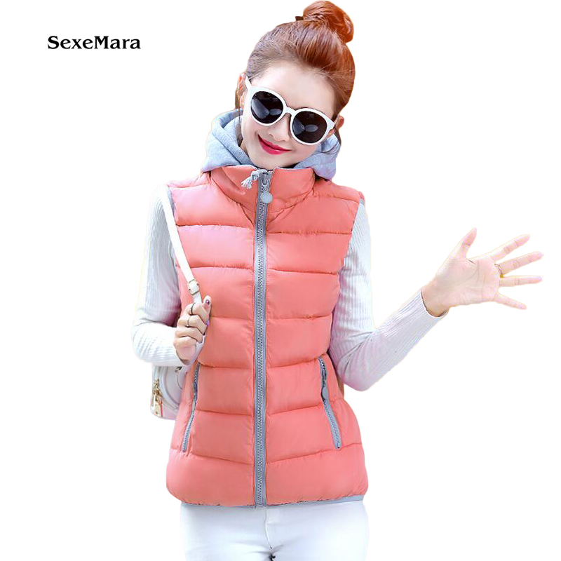 Cheap wholesale 2017 Spring Hot selling Cotton down female casual popular female thickening clothing with a hood women's Vest