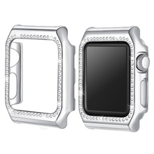 Crystal Diamond watch Case for apple 3 cover Frame Bumper Protector 42mm accessories iwatch 2 1 38mm