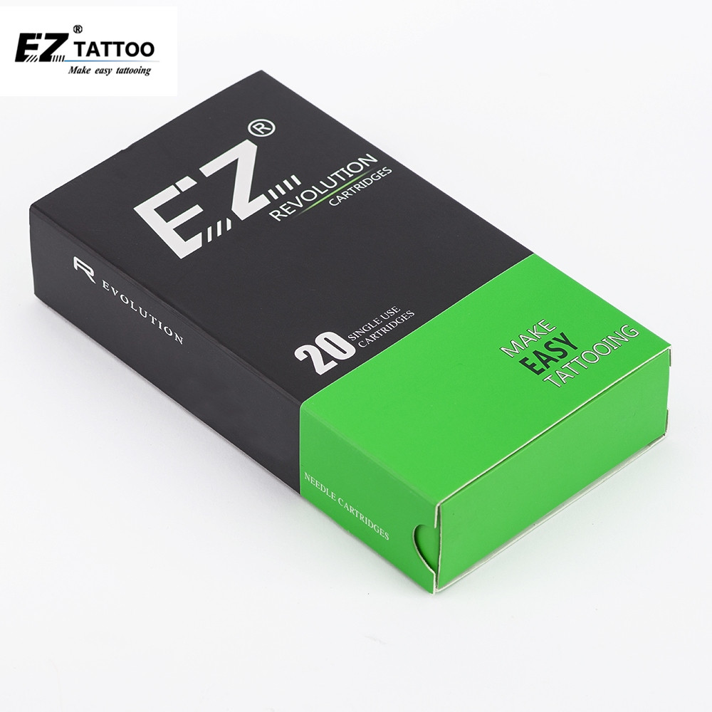 EZ Revolution Tattoo Needles Cartridge Magnum # 12 (0.35 Mm )  Long Taper 5.5 Mm Tattoo Kit Accessories Supply 20 Pcs /box