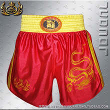 Nine Duan Long mma font b shorts b font Sanda Sanda Muay Thai pants embroidered dragon