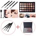 4 pcs Eyeshadow Eye Brush Cosmetic Makeup Brushes + 28 Color Eye Shadow Palette Make Up Eyeshadows  SSwell