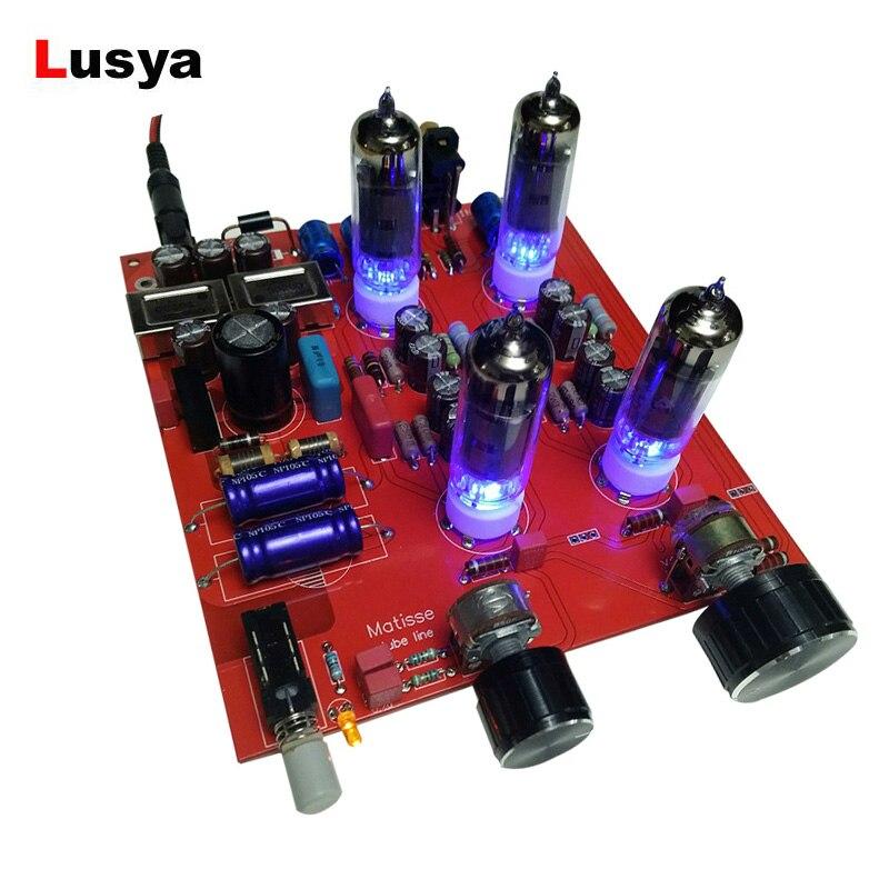 Tube Preamplifier Board 6K4 Preamp Tube Amplifier Preamp Bile Buffer MINI HIFI Tone Board Preamplifier DC12V