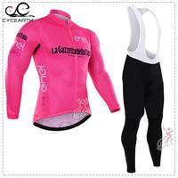 Tour De Italy 2016 Cycling Jersey Long Sleeve Ropa Ciclismo Bicycle Wear Clothing Clothes Breathable Quick