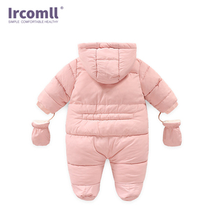 Image 4 - Ircomll Warm Infant Baby Jumpsuit Cotton Down Rompers Hooded Inside Fleece Boy Girl Winter Autumn Overalls Children Outerwear