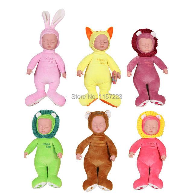 Simulação Música Brinquedos Eletrônicos boneca Dormir com música Elétrica educação Stuffed & Plush Animais Dolls Presente para girl & baby