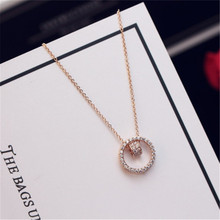 CX-Shirling Fashion Jewellery Gold&Silver Pendant Necklaces Female Circle Brand Statement Necklace 2017 Jewelry Custom Design