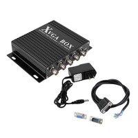 XVGA поле RGB RGBS RGBHV MDA CGA EGA VGA промышленный монитор видео конвертер с США Разъем Мощность адаптер Черный
