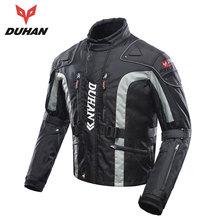DUHAN Moto Vêtements Motocross Vitesse De L'équipement Hommes Moto Veste Coton Sous-Vêtements Froid-preuve Moto Veste Oxford Tissu