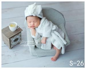 Image 3 - Dvotinst新生児の写真の小道具ポーズミニソファアームチェア + 2個枕poser写真プロップfotografiaスタジオ