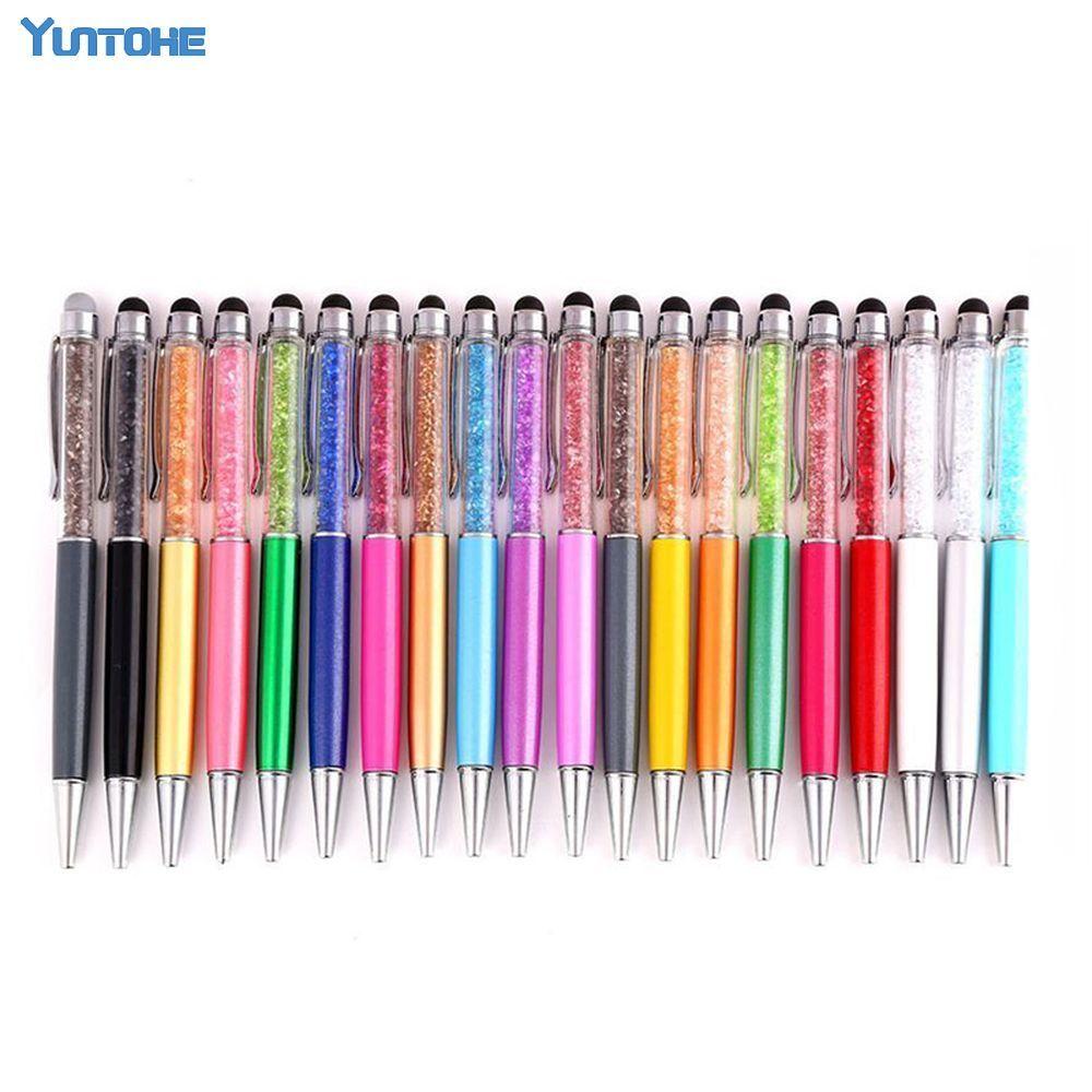 Wholesale Advertising Ballpoint Metal Pen Diamond Crystal Capacitive Pen Touch Writing Employee Benefits Prizes Gift Pen
