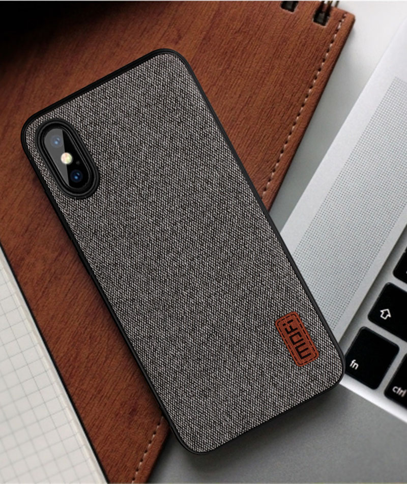 For Iphone X 8 7 6 6S Plus Case Fabric Splice Back Cover Case Silicone Phone Iphone X 10 8 7 6 6S Business Coque