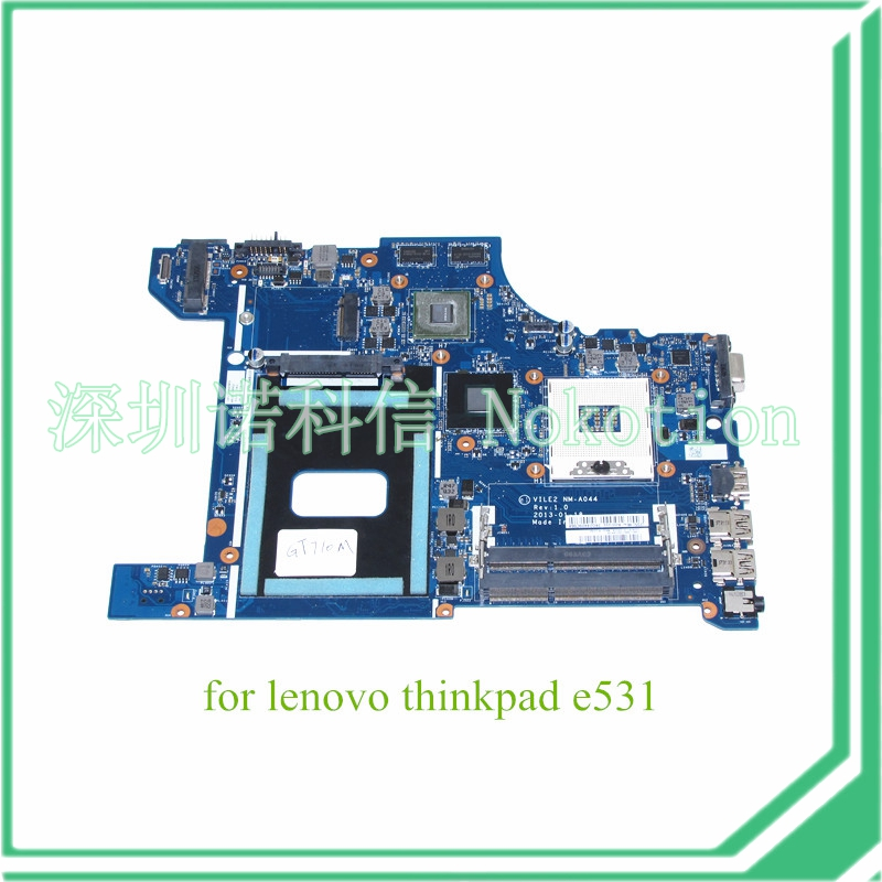 NOKOTION VILE2 NM-A044 REV 1,0 для lenovo thinkpad edge E531 материнская плата для ноутбука HD4000 710M