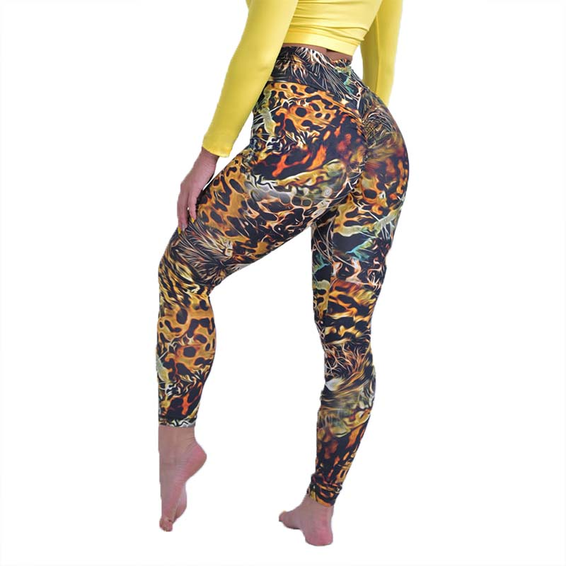 Sexy Leopard Push Up Legging Women Elastic Sexy Hip Lift Pants High Waist Patchwork Fitness Trousers Legging Sexy Women Clothes