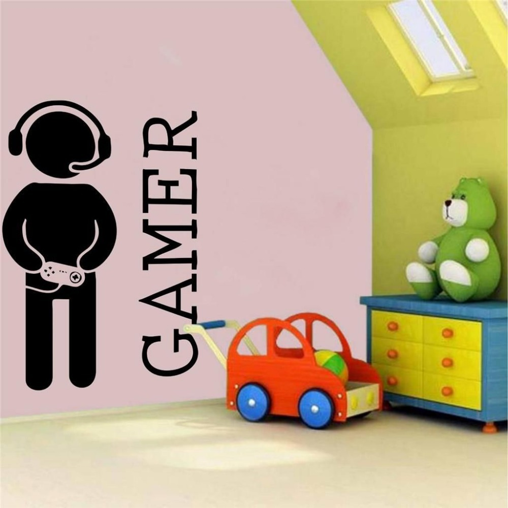 Aliexpress.com : Buy Boys Game Room Vinyl Wall Decal Video Games Joystick  Gamer Decor For Play Room Mural Wall Sticker Kids Bedroom Home Decoration  From ...
