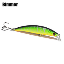 Bimmor 1PCS Minnow Lure 8.5cm Length 8g Fishing Floating Wobbler Plastic Hard Bait 6# Hooks Bionic Carp Crankbait Tackle B04