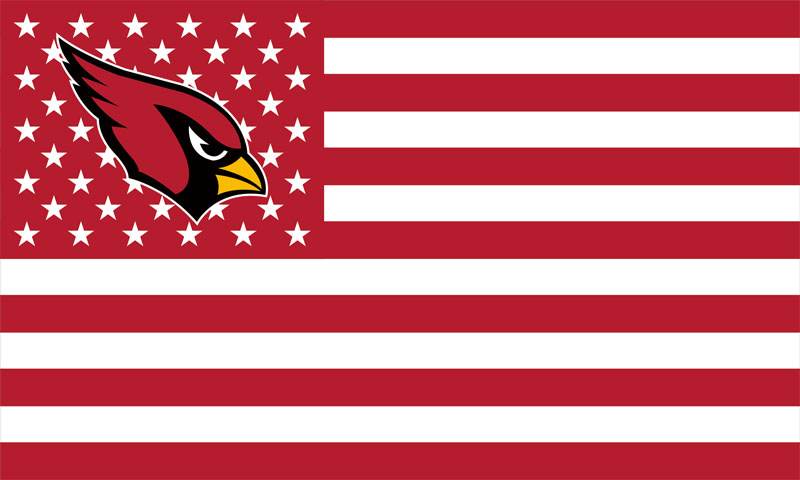 Arizona Cardinals America Football Star-Spangled 100D Polyester Banner Flag 90*150 CM