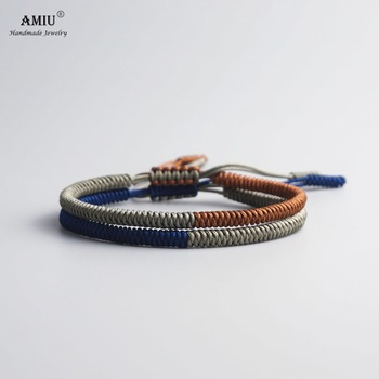 AMIU Multi Color Tibetan Jewelry Buddhist Tibetan Bracelets & Bangles For Women Men Handmade Knots Rope Budda Lucky Bracelet buddhist rope bracelet