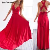 Long Maxi Dress Sexy Summer Bandage Multiway Bridesmaids Convertible Dress Women Wrap Dress