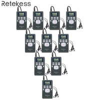 10pcs Retekess PR13 FM Radio Receiver Pocket Radio DSP Radio Portable for Large meeting Simultaneous Interpretation System