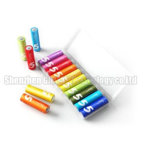 Новые Xiaomi ZMI радуга красочные щелочные аккумулятор батарейка аа 15 В с Maxell ящик для хранения клеток а  а  экологически чистые купить на AliExpress