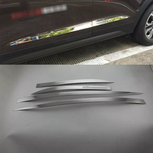 цена на Car Accessories Exterior Decoration Stainless Steel Side Door Car Body Molding Strips Cover  For Hyundai Tucson 2015 Car-styling