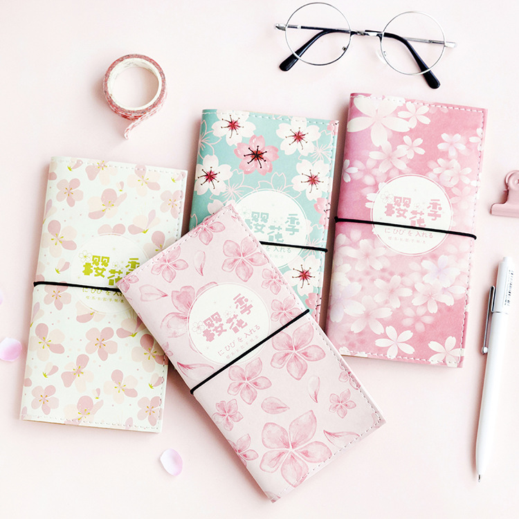 Coloffice Kawaii notebook portable travel book creative boxed PU leather notepad school office supplies students stationery 1PCS meikeng 1pc high quality old fashion leather cover notebook notepad office supplies school students stationery supplies