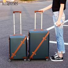 Чемодан тележка klqdzms для женщин чемодан на колесах из АБС