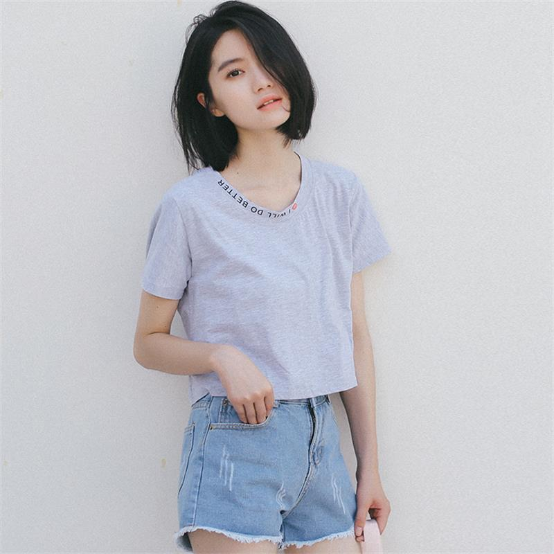 2017 Women'S Punk Harajuku Ulzzang Short Design Fashion T
