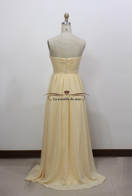 Robe de demoiselles d honneur pour mariage new chiffon sexy sweetheart A Line champagne bridesmaid dresses long real photo