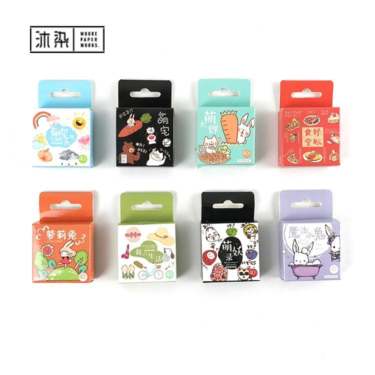 Cute Pet Animal Life Label Stickers Set Decorative Japanese Stationery Stickers Scrapbooking DIY Diary Album Stick Label