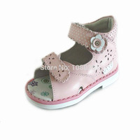 Lovely 1 Pair Orthopedic Genuine Leather Sandals Fashion Summer Baby Sandals Kids Girl Super Quality Shoes