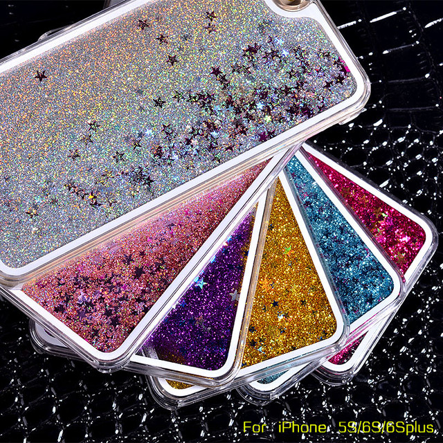 Liquid Glitter Quicksand Star Mobile Phone Case for iPhone