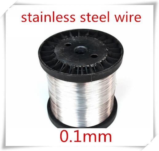 Fil en acier inoxydable brillant SUS304 | Fil dur, 100 mètres, 0.1mm