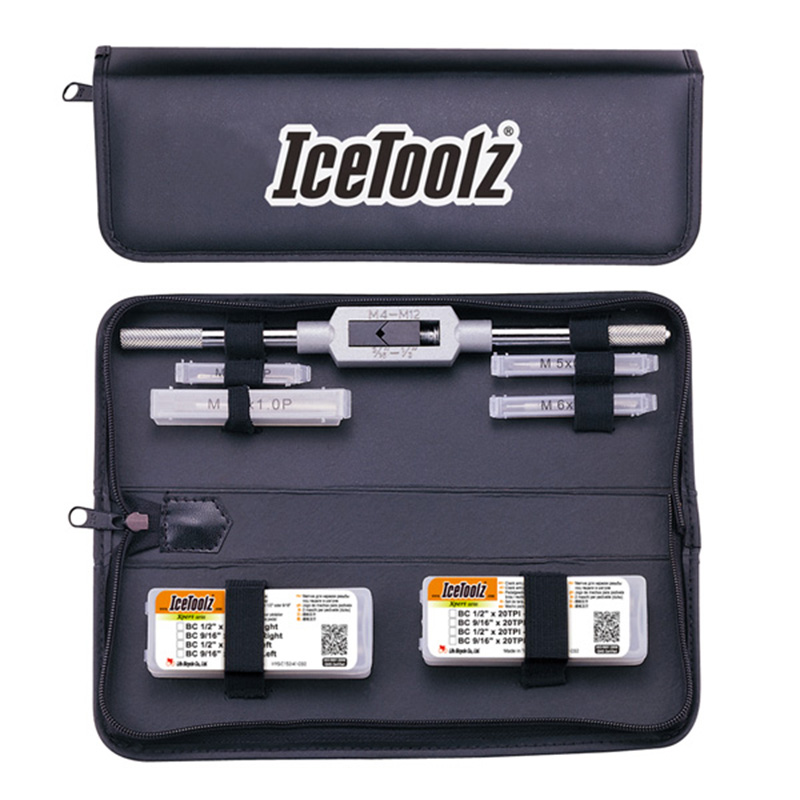 Icetoolz E158 Complete Tap Set With Handle & Storage Pouch Professional Bike Shop Repair Tool