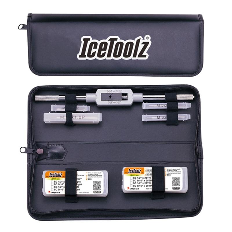 Icetoolz E158 robinet complet avec poignée et pochette de rangement outil de réparation de magasin de vélo professionnel