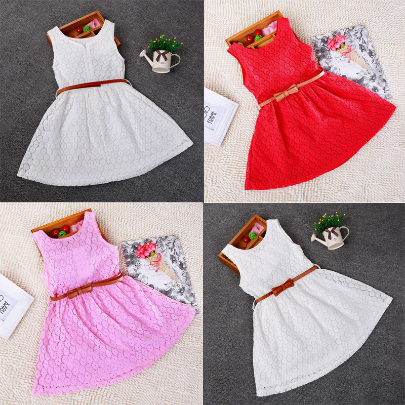 Baby Girls Kids Toddler Princess Hollow Out Dress Lace Party Dress Clothing Belt high quality girls baby hollow out bud silk condole belt dress princess party dresses children s clothing wholesale