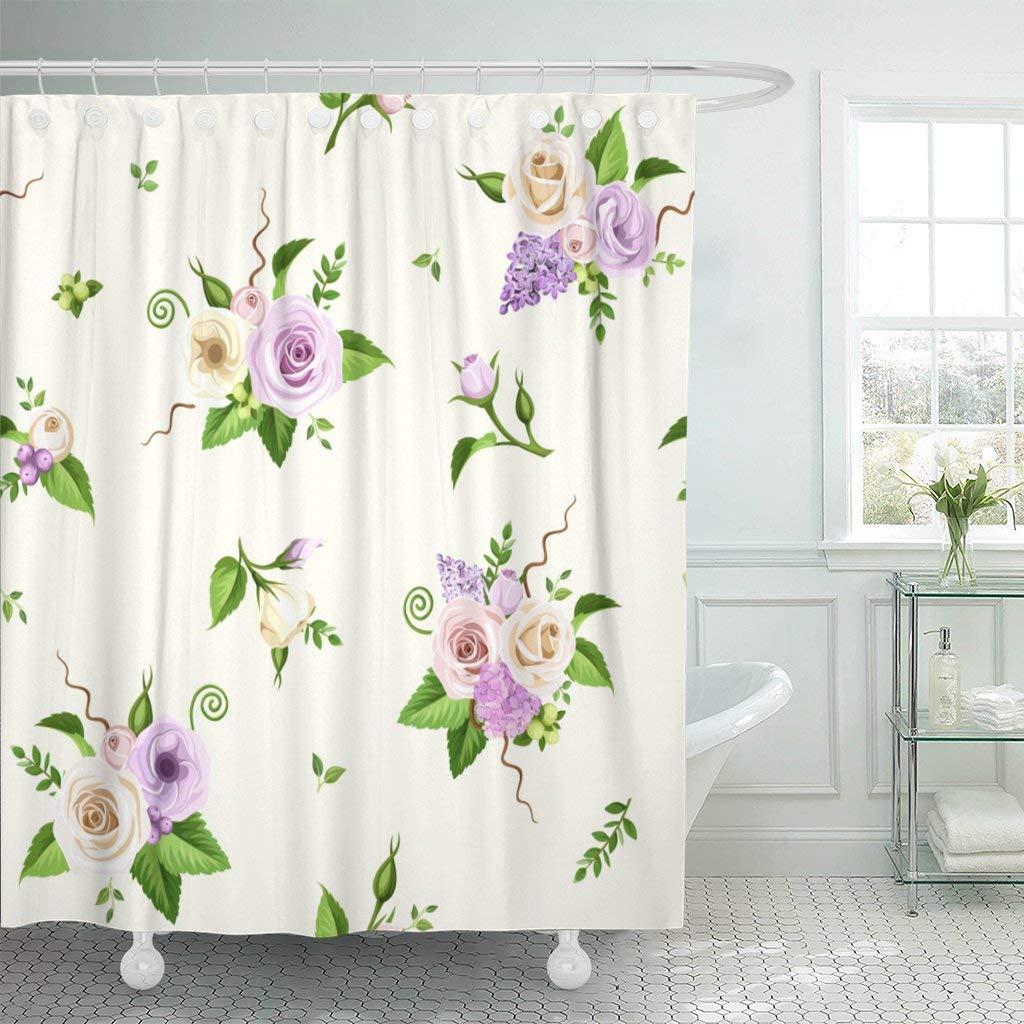Bath Hydrangea Flowers Floral Pattern Country Decor Stylish