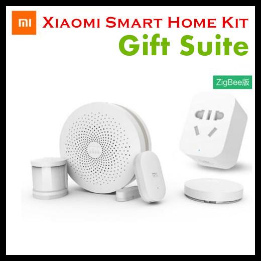 Nueva xiaomi smart home sistema de seguridad kit suite de regalo puerta de manera inalámbrica zigbee enchufe del cuerpo del sensor de la puerta ventana del sensor