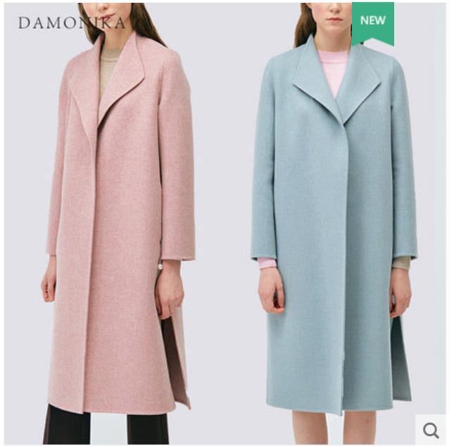 La longue veste en laine rose de l'été 2018 des femmes nouveau style semble mince et haut de gamme