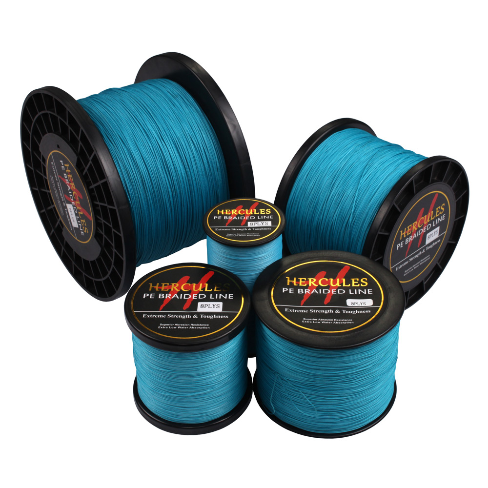 Image 3 - Hercules 8 Strands 1000M PE Braided Fishing Line tresse peche Saltwater Fishing Weave Superior Extreme Super Strong 10LB 300LBline chemicalline accessline cake -