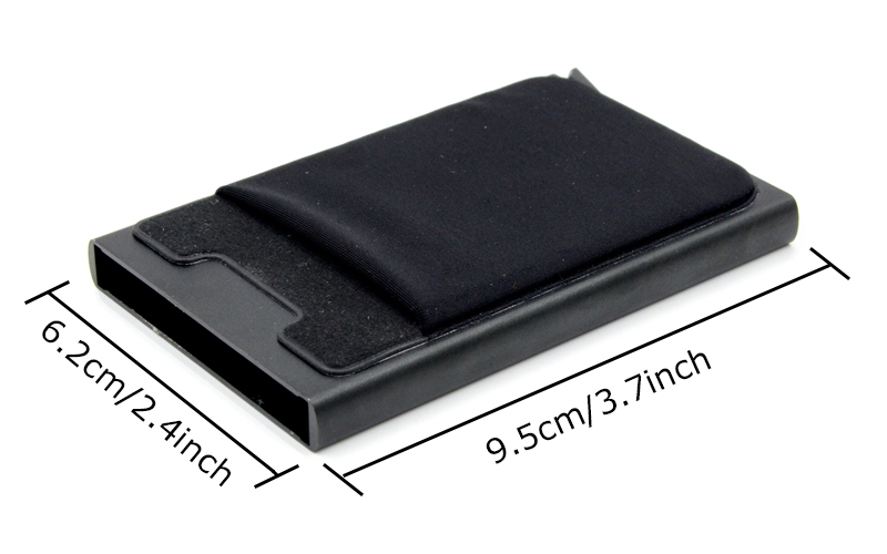 Credit Card Holder Case Aluminum Wallet With Elasticity Back Pocket RFID Thin Metal Wallet Business ID Card Holder 17