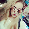 New Cat Eye Sunglasses Women Vintage Fashion Rose Gold Mirror Sun Glasses Unique Flat Ladies Sunglasses Oculos UV400 Y29