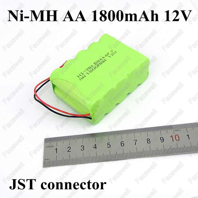 1pc aa battery 12v 1800mah nimh AA 12V Ni-MH Rechargeable Pack 12v battery pack oplaadbare batterij pack aa for cleaner toys car