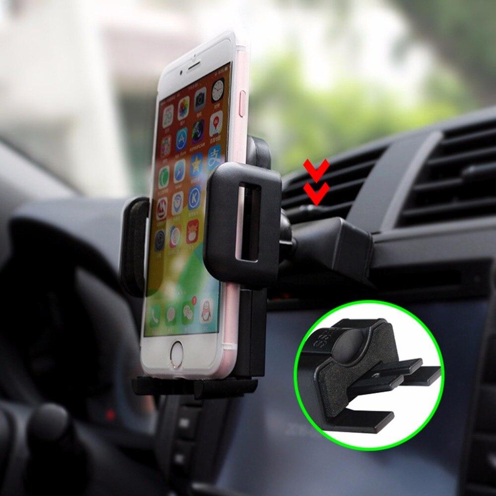 <font><b>Car</b></font> <font><b>Phone</b></font> <font><b>Holder</b></font> CD Air Vent Mount GPS 360 Degree Rotate Stand For iPhone 5 5S 6 6S 7 Plus Samsung Galaxy S5 S6 S7 <font><b>S8</b></font> LG #R179T#